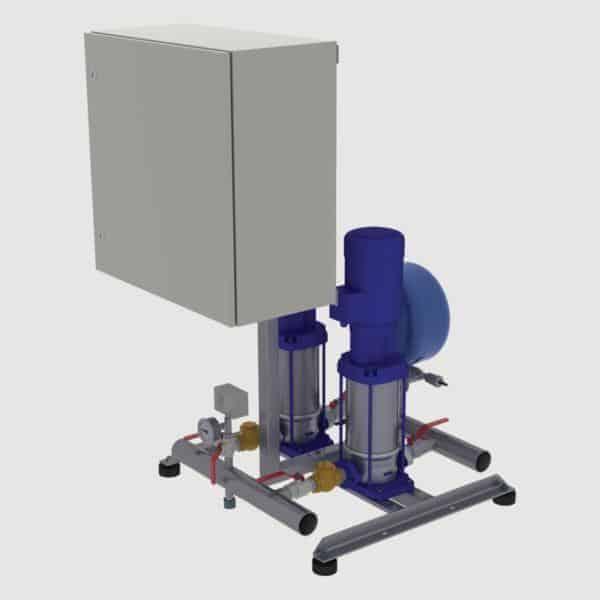Kahden pumpun paineenkorotusasema BM2-MVV(F) monivyöhykepumpuilla