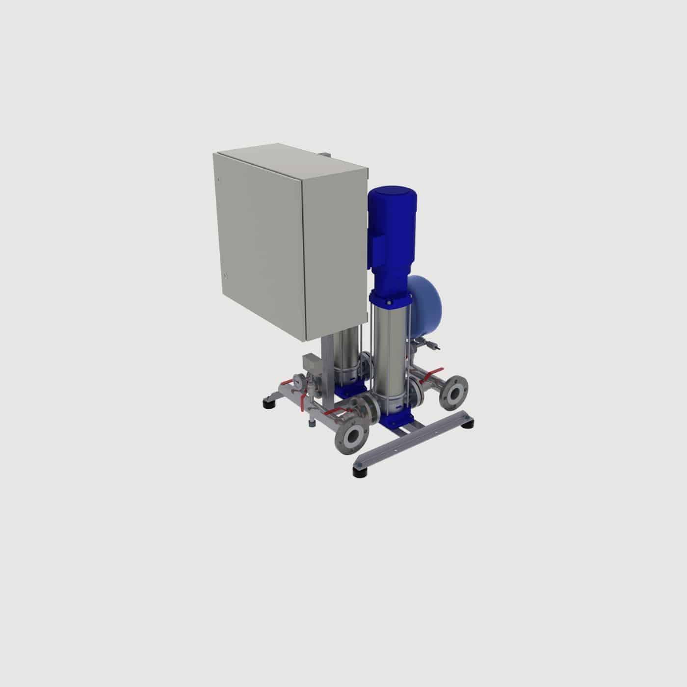 Pressure booster station